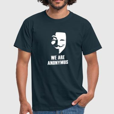 Anonymus Anonymus nous sommes masque démonstration revolutio blanc - T-shirt Homme