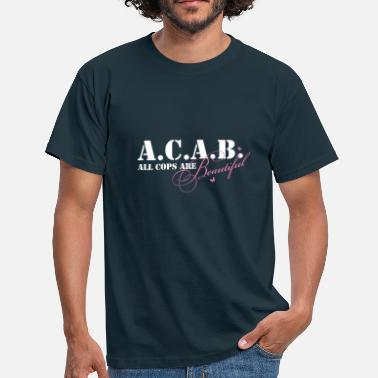Cops Up2u_ACAB_white - Männer T-Shirt