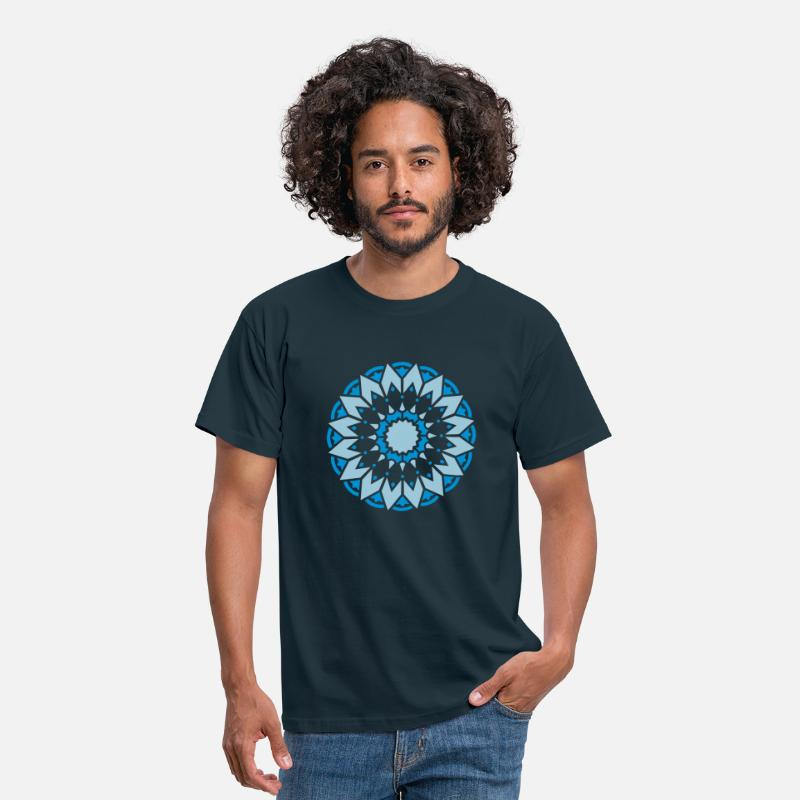 Circle T-Shirts -  Sonnenrad Medizinrad Sonne Yoga Meditation   - Men's T-Shirt navy