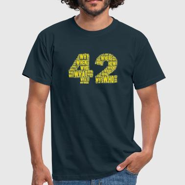 42 Yellow - T-shirt Homme