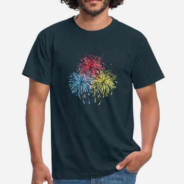 Firework Fireworks in three colors - Men's T-Shirt