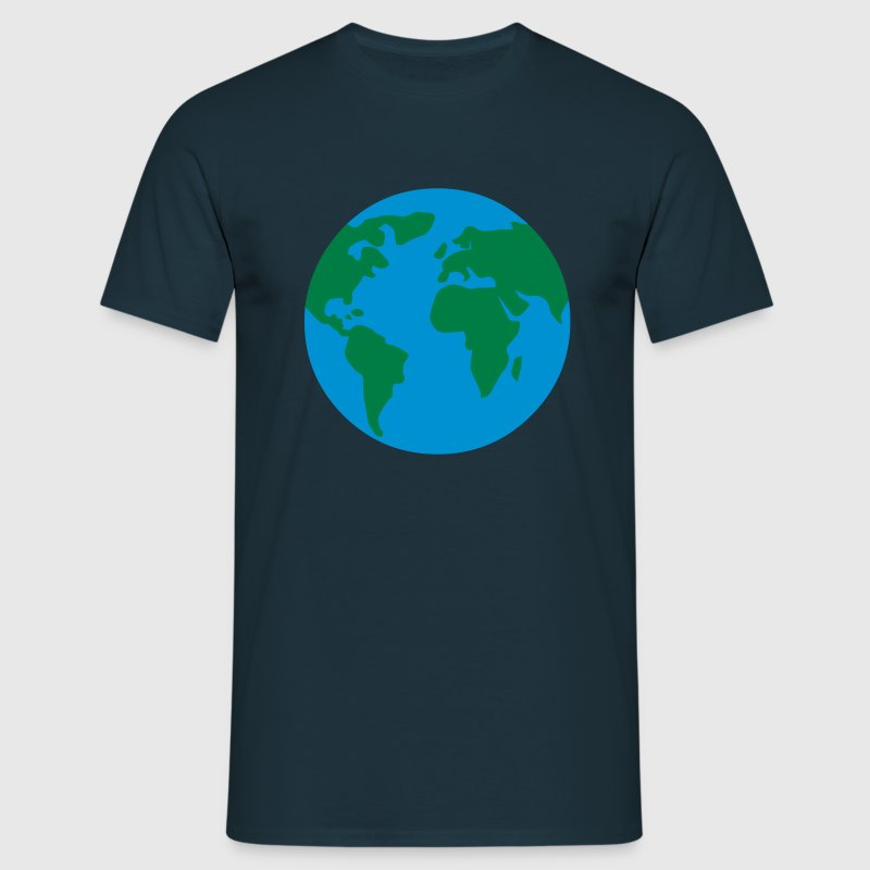 weltkugel - earth - world - Men's T-Shirt