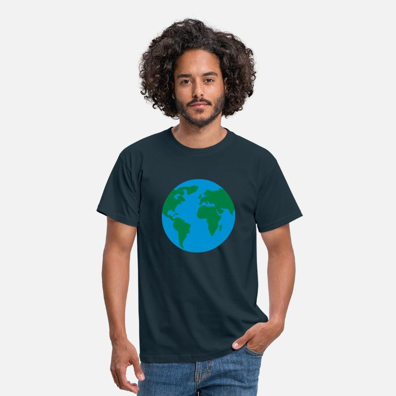 Earth T-Shirts - weltkugel - earth - world - Men's T-Shirt navy