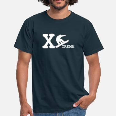 Skidor xtreme snowboarder - Men's T-Shirt