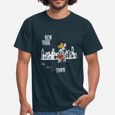 Greenwich Funny New York City My Kind of Town Pizza Rat   - Men's T-Shirt