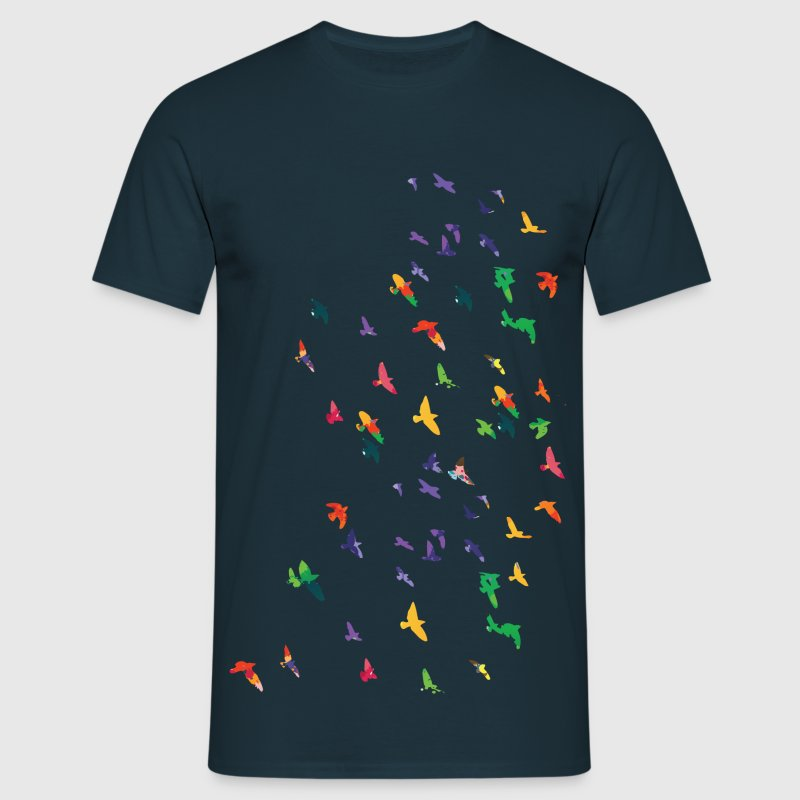 Colorful flying birds - Men's T-Shirt