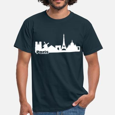 Monument Paris Skyline - T-shirt Homme