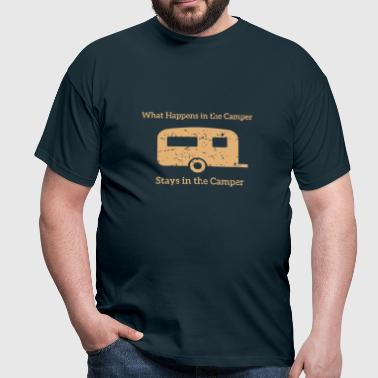 What happens in the Camper, stays in the Camper. - Männer T-Shirt