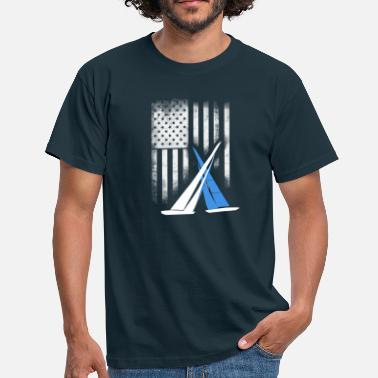 Sail Race Sailing match-race team cup americas cup sail yacht - Men's T-Shirt