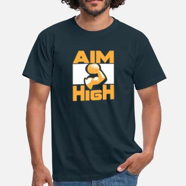 Body Goals High goals are with bodybuilder and dumbbell - Men's T-Shirt