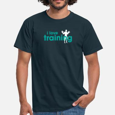 I Love Trains I Love Training - Men's T-Shirt