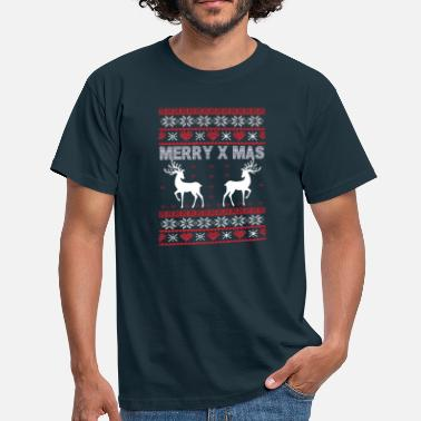 Merry Christmas with Rudolph - Men's T-Shirt