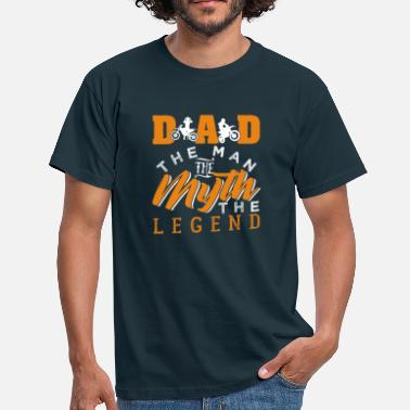 Dad The Man The Myth The Legend Motocross Dad The Man The Myth The Legend - Männer T-Shirt