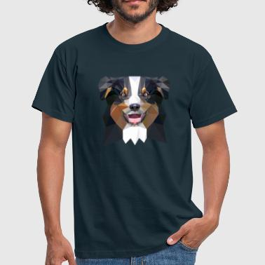 Aussie, low poly, black - Männer T-Shirt