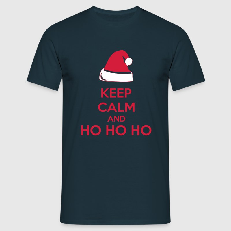 Keep Calm And Ho Ho Ho - Mannen T-shirt