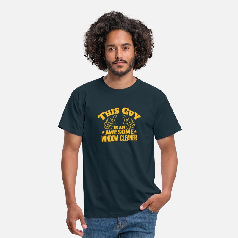 Cleaner T-Shirts - this guy is an awesome window cleaner - Men's T-Shirt navy