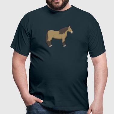 cold-blooded horse brown - Mannen T-shirt