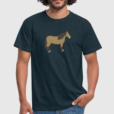 Koelbloedig cold-blooded horse brown - Mannen T-shirt