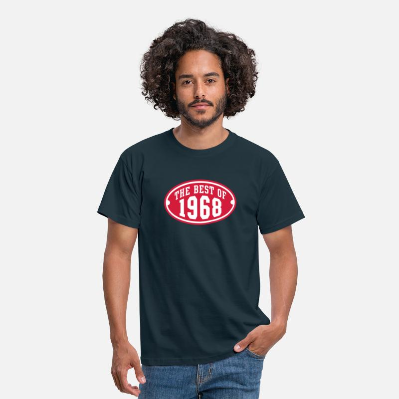 Established T-Shirts - THE BEST OF 1968 2C Birthday Anniversaire Geburtstag - Men's T-Shirt navy