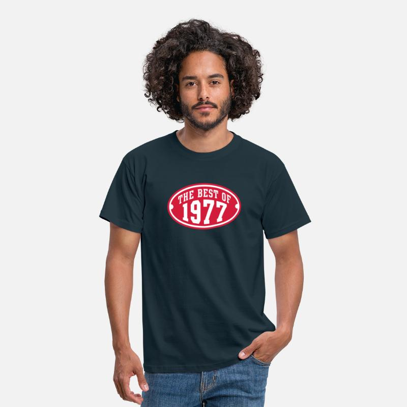 70s T-Shirts - THE BEST OF 1977 2C Birthday Anniversaire Geburtstag - Men's T-Shirt navy