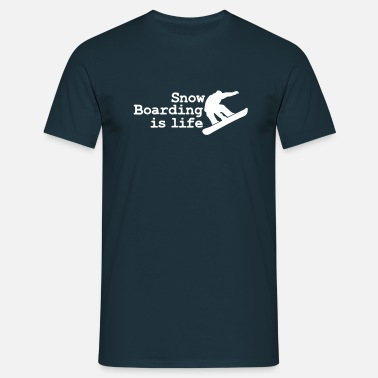 Skidor snowboarding is life - Men's T-Shirt