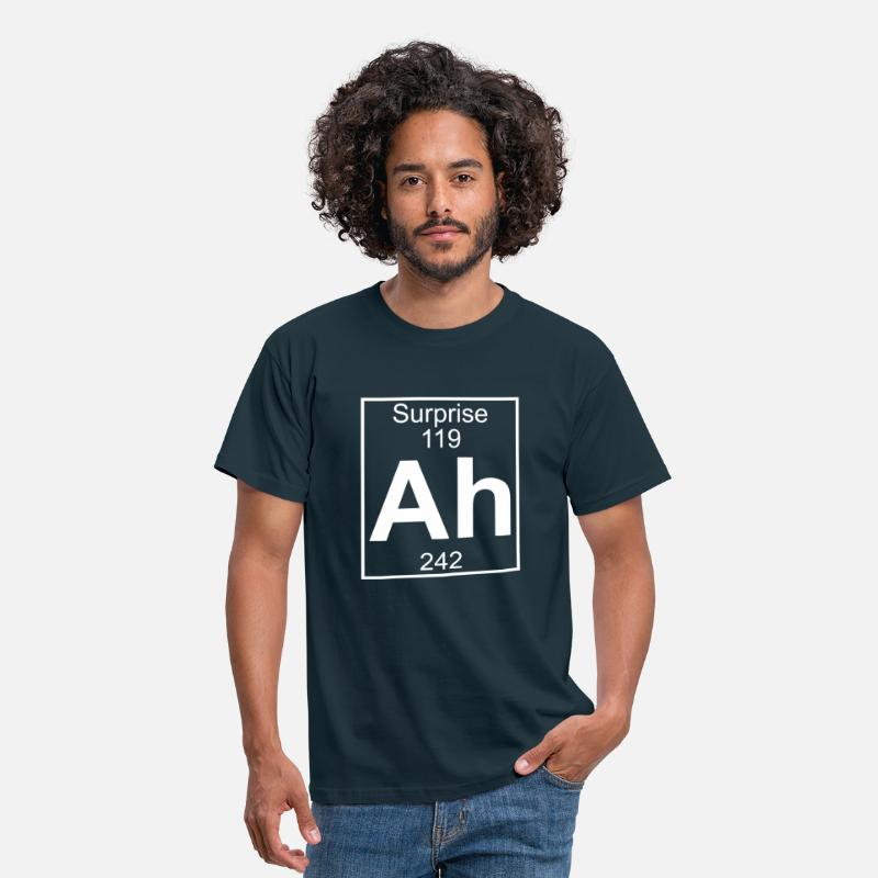 Geek T-shirts - Ah - the Element of Surprise - T-shirt Homme marine
