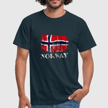 Norwegen Flaggen Norway Vintage Flag - Männer T-Shirt