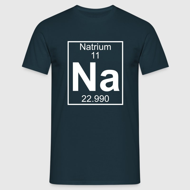 Periodic table element 11 - Na (natrium) - BIG - Mannen T-shirt