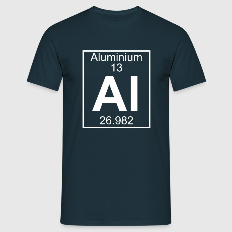 Periodic table element 13 - Al (aluminium) - BIG - T-shirt Homme