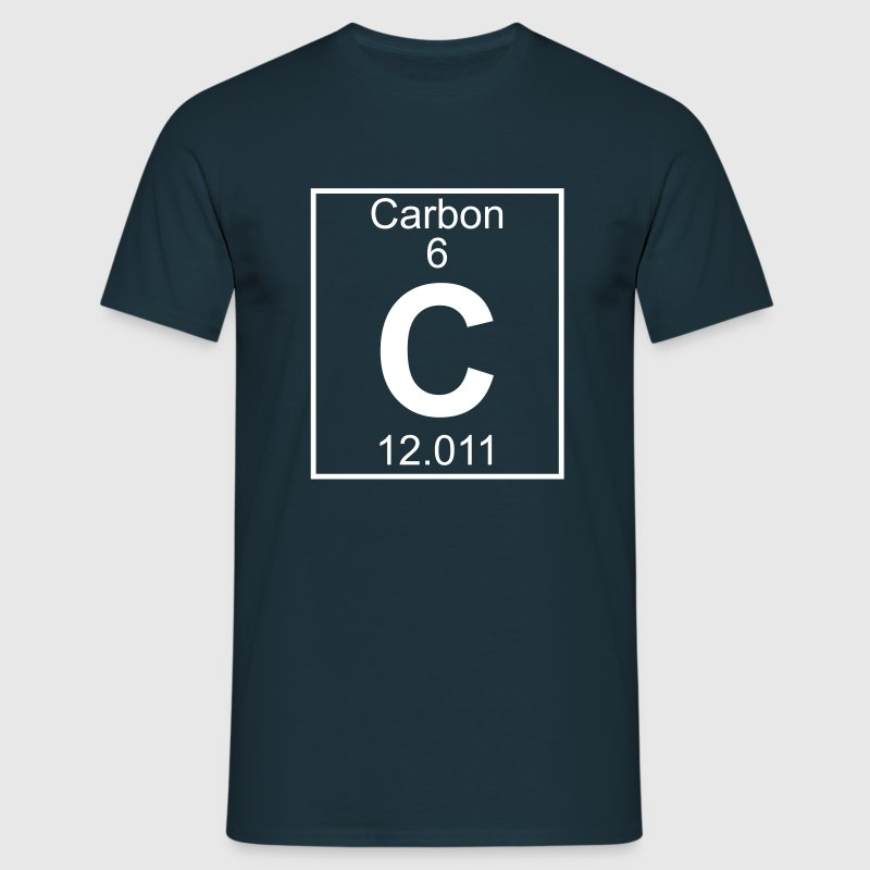 Periodic table element 6 - C (carbon) - BIG - Maglietta da uomo