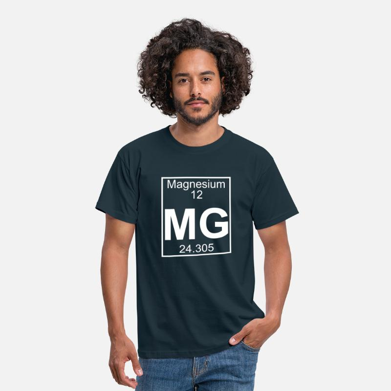 Element T-Shirts - Magnesium (Mg) (element 12) - Men's T-Shirt navy
