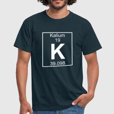 Periodic table element 19 - K (kalium) - BIG - Männer T-Shirt