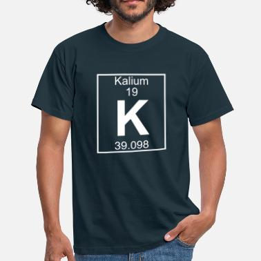 Periodic Table Periodic table element 19 - K (kalium) - BIG - Männer T-Shirt