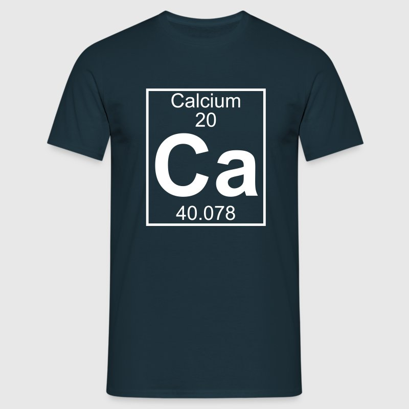 Periodic table element 20 - Ca (calcium) - BIG - T-shirt herr