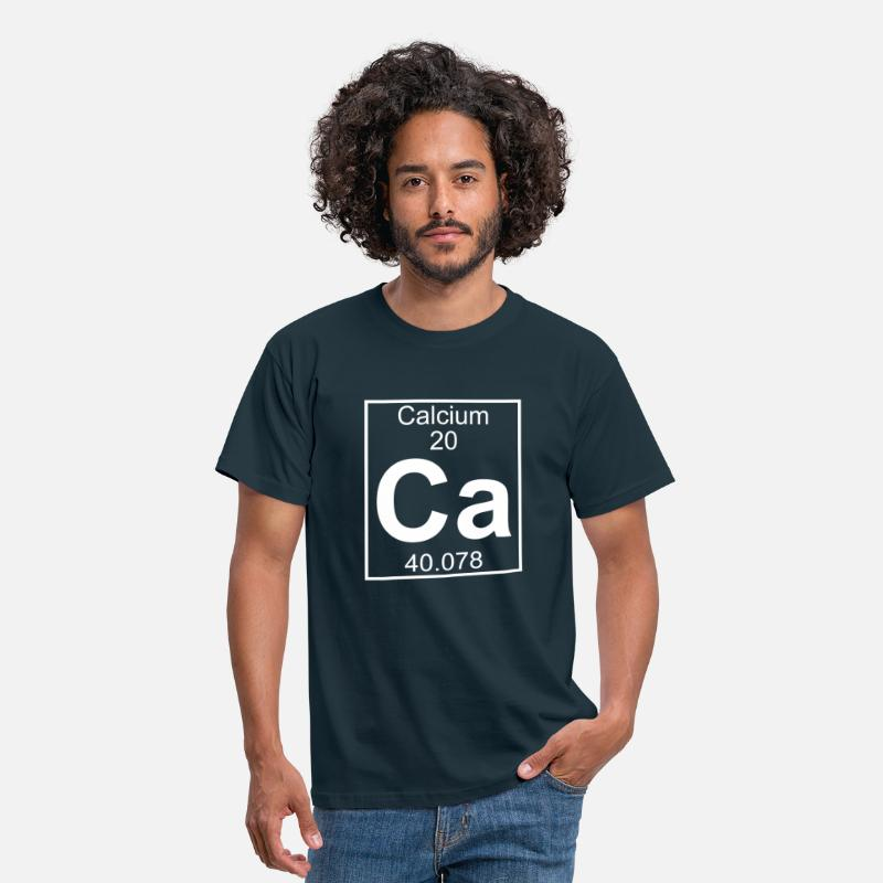 Geek T-shirts - Periodic table element 20 - Ca (calcium) - BIG - T-shirt Homme marine
