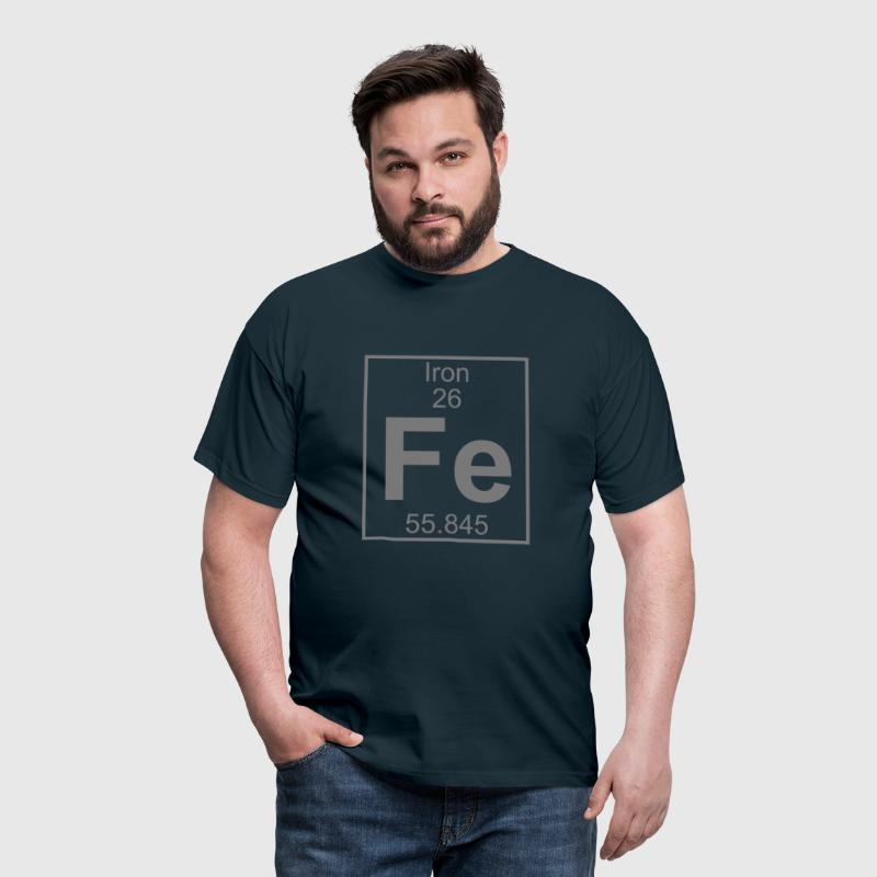 Periodic table element 26 - Fe (iron) - BIG - T-shirt Homme
