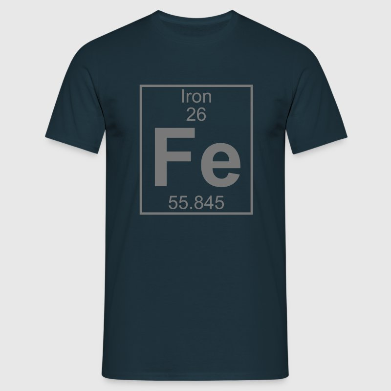 Periodic table element 26 - Fe (iron) - BIG - T-shirt herr
