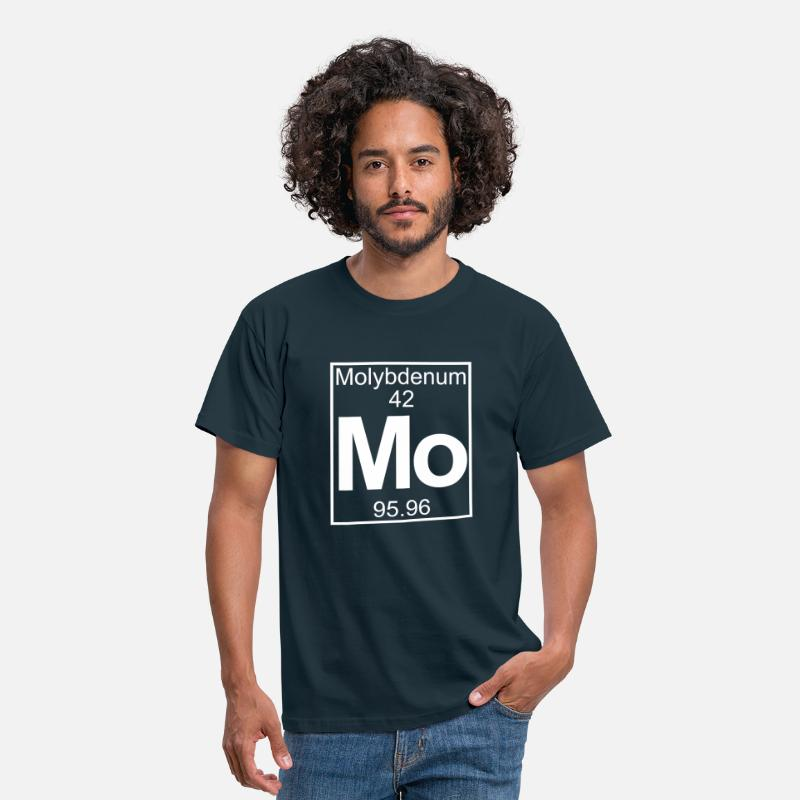 Geek Camisetas - Periodic table element 42 -   (molybdenum) - BIG - Camiseta hombre azul marino