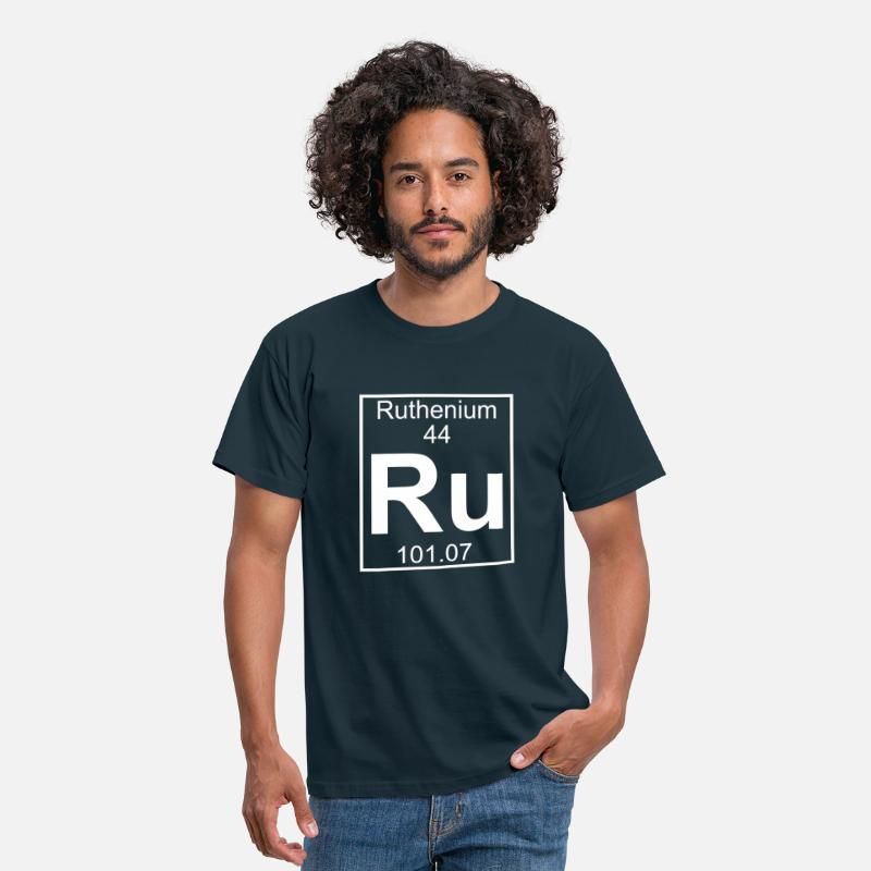 Ruthenium T-Shirts - Ruthenium (Ru) (element 44) - Men's T-Shirt navy