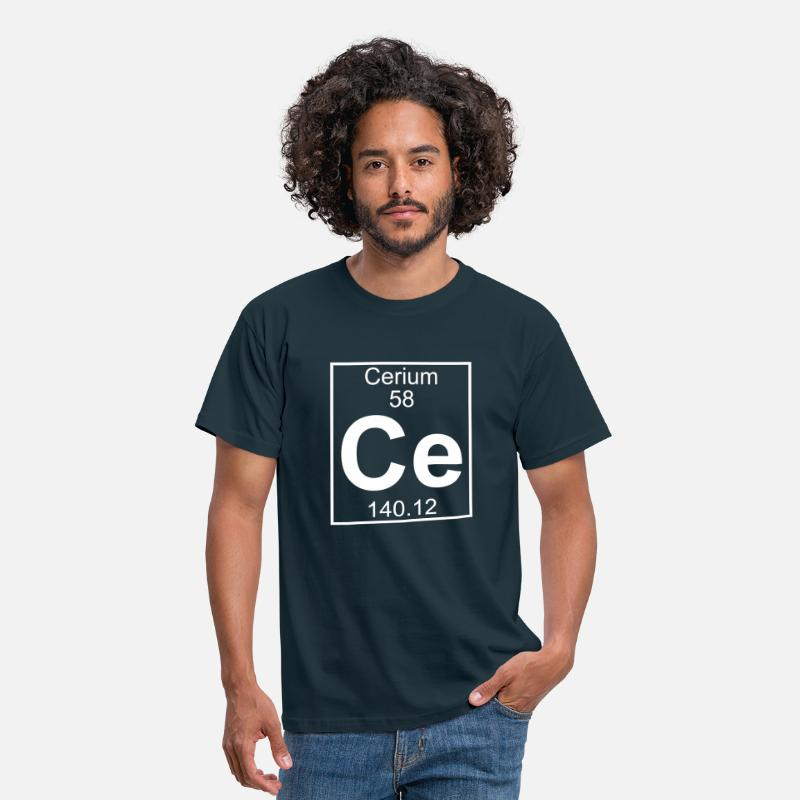 Element T-Shirts - Cerium (Ce) (element 58) - Men's T-Shirt navy