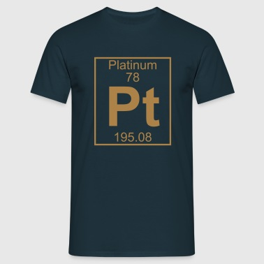 Element 078 - Pt (platinum) - Full - Herre-T-shirt