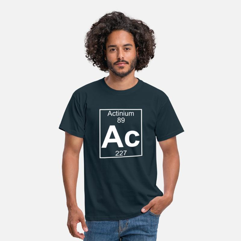 Geek T-shirts - Element 089 - Ac (actinium) - Full - T-shirt Homme marine