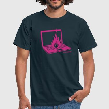 laptopflame - Men's T-Shirt