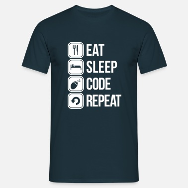 Sleep eat sleep code - Men's T-Shirt