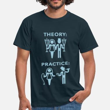 Practice Manager Theory & Practice / Bride & Groom (Wedding) - Men's T-Shirt