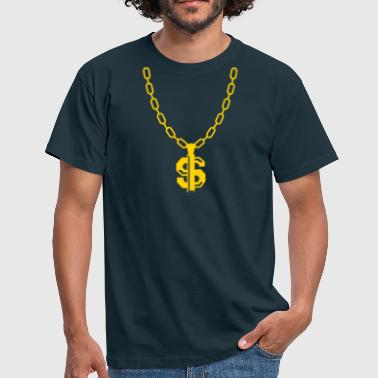 gold chain - Men's T-Shirt