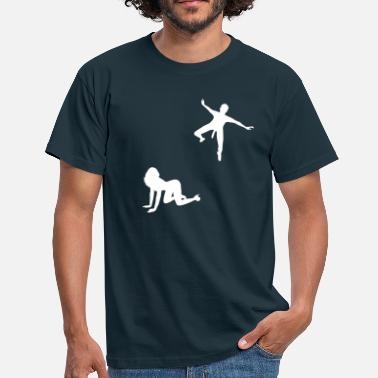 Doggystyle Woman Woman waiting for parachutists  - Men's T-Shirt