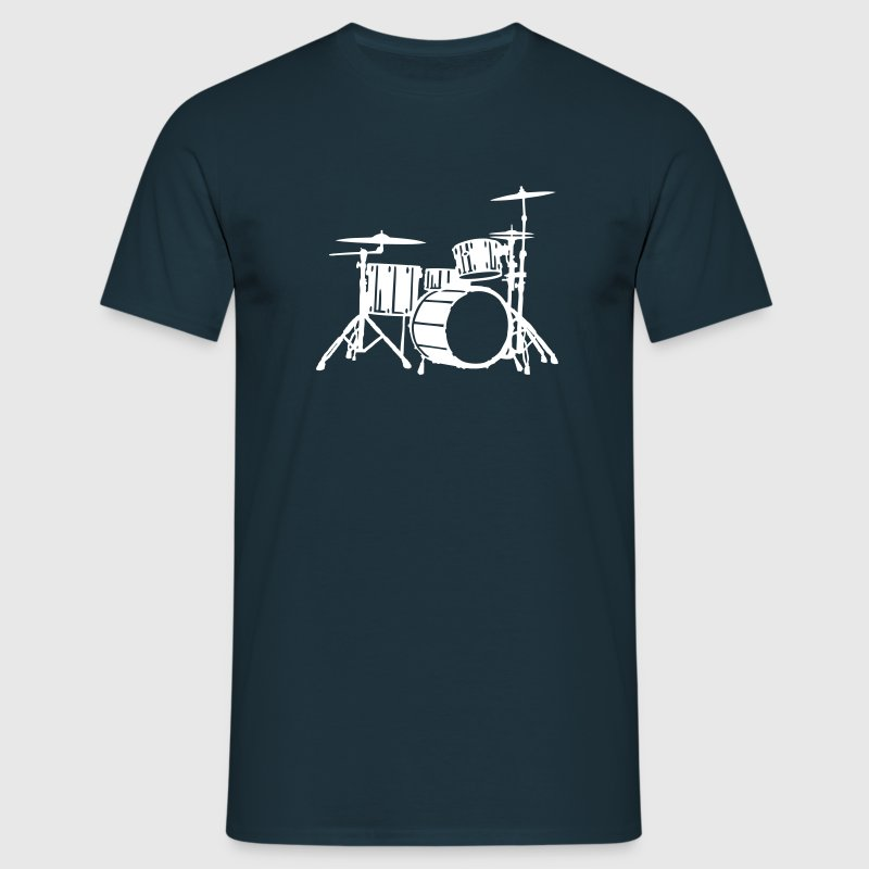Drums Silhouette Detailed - Men's T-Shirt