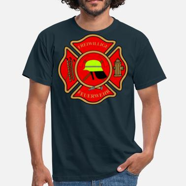 Fire Department Firefighter Patch - Men's T-Shirt