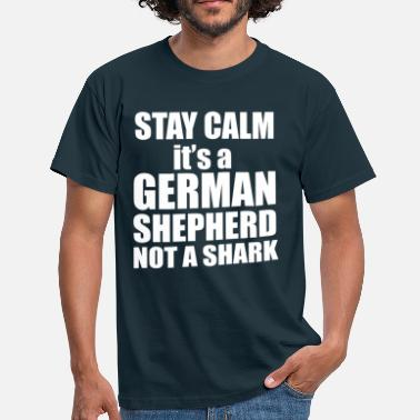 German Shepherd GSD shark - Men's T-Shirt